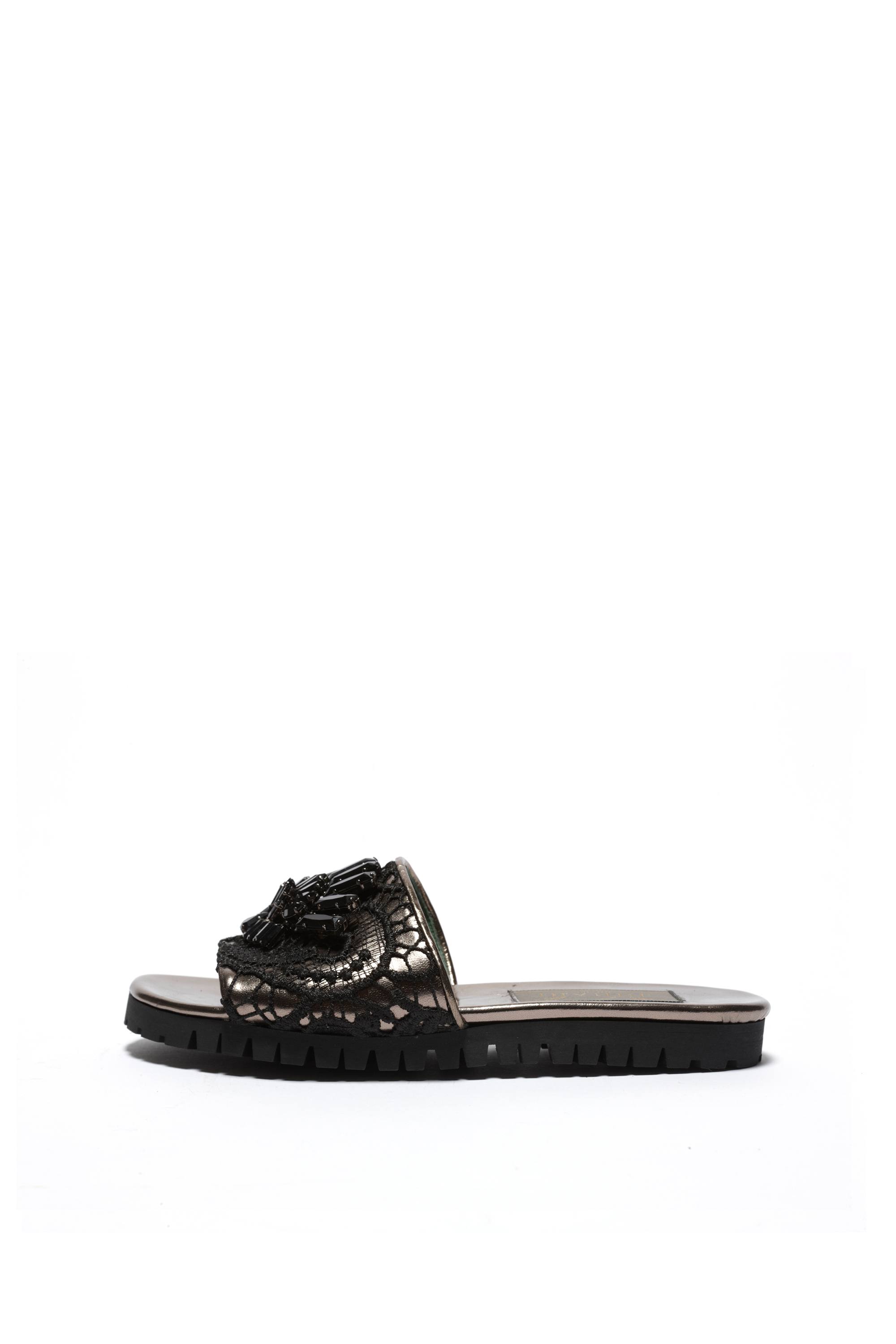 Sahara lace  sandals - black